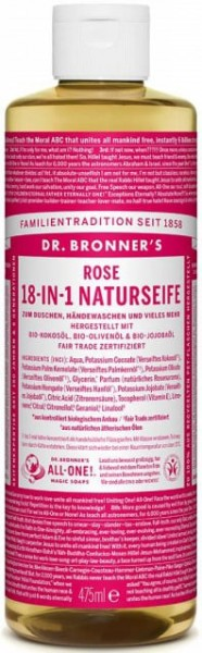 Dr Bronner 18-IN-1 Naturseife Rose
