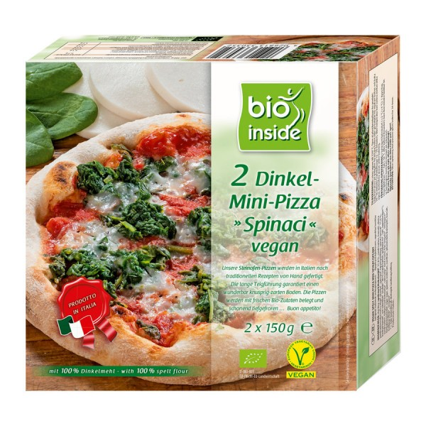 bioinside BIO Dinkel-Mini-Pizza Spinaci 2x
