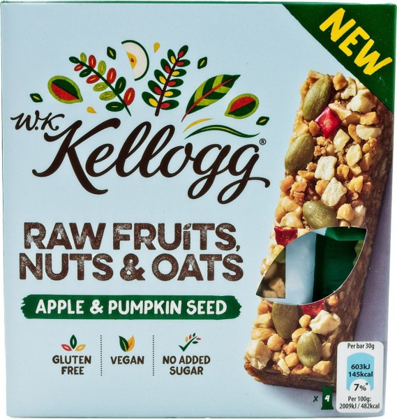 Kellogg Riegel, Nuts & Oats Apple & Pumkin Seed Multipack