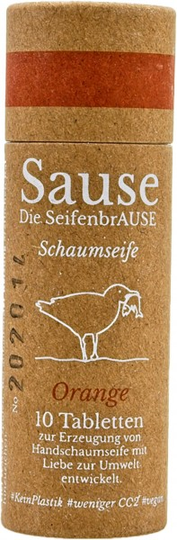 "Sause Schaumseife Tabletten ""Orange"""